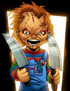 Chucky Colored by MJValle on DeviantArt Dope Cartoon Art, Dope Cartoons, Arte Horror, Horror Art, Horror Cartoon, Horror Film, Horror Movie Costumes, Fairy Sketch, Bride Of Chucky