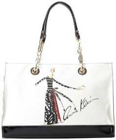 Anne Klein Signature Tote Shoulder Bag,Ivory/Black/White/Black Patent,One Size Anne Klein,http://www.amazon.com/dp/B00DRCK0M6/ref=cm_sw_r_pi_dp_Hex9rb0RTAR74DV1