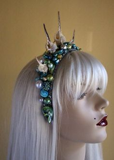Mermaid Crown with shells, pearls, and gems