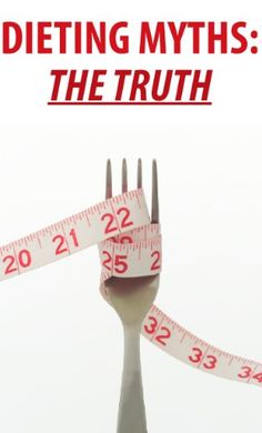 Dieting Myths: THE TRUTH