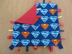 Tag blanket from Superman fabric Superman themed by Crafting4Caleb, $12.50