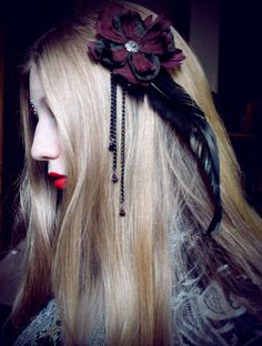 Cabaret Gothique gothic fairy hair clip by RosebloodandMothdust. , via Etsy.