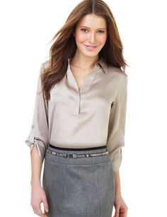 Prefer a skirt?  What a great look for in the office.