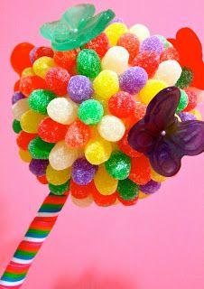Jackie Sorkin's Fabulously Fun Candy Girls Gumdrop Topiaries with Gummy Butterflies