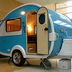 Teardrop camper love this color