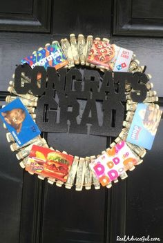 Make a Graduation Personalized Gift. Learn how to make this cool Money Graduation Wreath Make a Graduation Personalized Gift. Learn how to make this cool Money Graduation Wreath Unique Graduation Gifts, High School Graduation Gifts, Personalized Graduation Gifts, Graduation Diy, Graduation Gifts For Her, Graduation Gift For Boyfriend, Graduation Gift Baskets, 5th Grade Graduation, Graduation Celebration