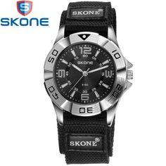 SKONE Марка Нейлон Ремешок Для Часов Часы Мужские Кварцевые Наручные Часы для Любителей Жизни Водонепроницаемый Женщин Смотреть SK6160 #women, #men, #hats, #watches, #belts, #fashion