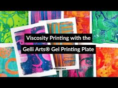 (via Viscosity Printing with Gelli Arts® by Marsha Valk -… – It's All About Better LifeStyle Gelli Plate Printing, Flow Painting, Gelli Arts, How To Dye Fabric, Dyeing Fabric, Plate Art, Fluid Acrylics, Cool Paintings, Art Background