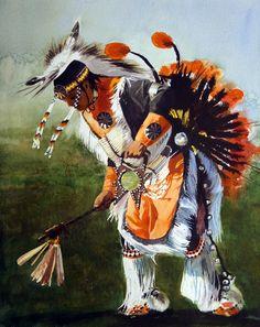 Indian Dancer - Robert Highsmith -  watercolor - 20.5 x 15