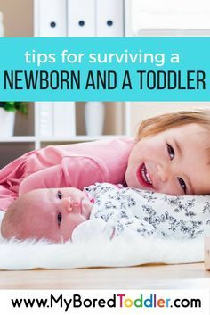 tips for surviving a newborn and a toddler. If you have two kids under two this post is for you!