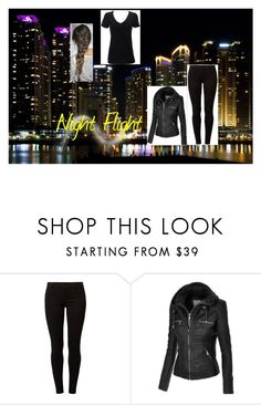 """""""Night Flight"""" by thelonelydaydreamer ❤ liked on Polyvore featuring Dorothy Perkins and Simplex Apparel"""