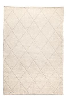 Jacquard-patterned cotton rug - Light beige - Home All Home Staging, H&m Home, Jacquard Weave, Light Beige, Soft Furnishings, Rugs On Carpet, Weaving, Cotton, Playroom