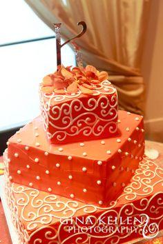 Cake #cake #orange #orangecake #wedding #reception #dessert #cathysrumcake #rumcake #indianwedding