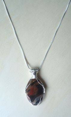 Tiger's Eye Necklace  Stone Pendant  by Crystals1LittleShop