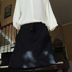Zara mini skirt Zara woman black tuxedo mini skirt, lined, pockets on each sides, front zipper but missing front button. Two faux pockets in back. Zara Skirts Mini