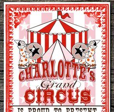 Grand Circus Invitations Set of 10 by theblueeggevents on Etsy, $19.50