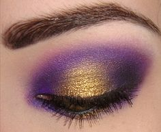 makeup perfect LSU eye! And I just got purple  pigment!