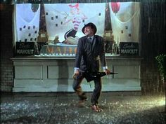 "Dance scene...""Singin' in the Rain"" (Title Song) 1952 ~ Gene Kelly...wonderful...perhaps the most uplifting scene in all of cinema"