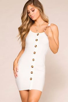 Yes, you need this dress! The Misha Buttoned Bodycon is so adorable and comfy you will want to wear it everyday!