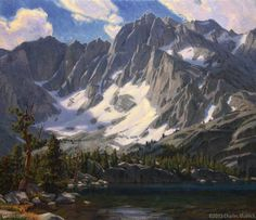 """""""Sierra Cathedral"""" by Charles Muench 26""""x30"""" Oil on Linen #CaliforniaArt #EnPleinAir #LandscapeArt"""