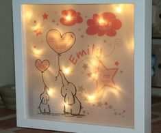 Most recent Snap Shots Personalized night light for birth - ELEPHANTS in pink - fantastic LED motif lamp Ideas Got kids ? Then you realize that their material winds up literally throughout the home! Kids Lamps, Baby Night Light, Birth Gift, Amazon Gifts, Kids Decor, Box Art, Shadow Box, Kids Room, Best Gifts