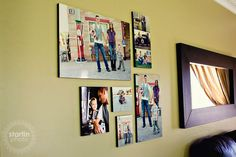 love this wall collage idea