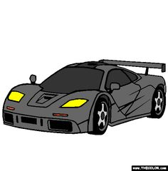 mclaren f1 coloring page
