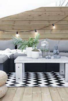 Ideen Für Terrassengestaltung Gemütlich Polstersofa Couchtisch Dekor