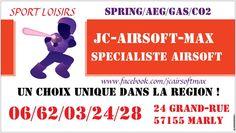 JC-AIRSOFT-MAX c'est 24 GRAND-RUE 57155 METZ / MARLY Répliques, accessoires et consommables. https://www.facebook.com/JCairsoftMAX