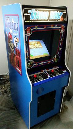 Custom Super Mario Bros build by Ridicrick Arcade Game Machines, Arcade Machine, Arcade Games, Man Cave Arcade, Arcade Room, Mario Bros Arcade, Sword Art Online Yuuki, Vintage Video Games, School Videos