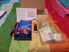 My Influenster Cosmo VoxBox! Includes Ghirardelli Sea Salt Escape chocolate bar (yum!), Forever Red perfume from Batg and Body Works, Pilot FriXion eraseable pen, and Gilette Venus Embrace razor with an extra Venus & Olay razor head!