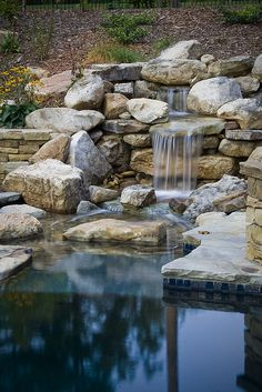 Waterfall by: Medallion Pool Co.