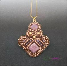 Tihad handmade soutache pendant by 75marghe75 on Etsy