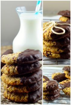 coconut cranberry cookies dipped in chocolate via @mayihavethatrecipe
