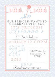 PRINTABLE Princess Birthday Invitation by MySentimentsInvites, $10.00