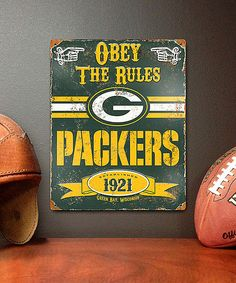Look at this Green Bay Packers Vintage Metal Sign on #zulily today!