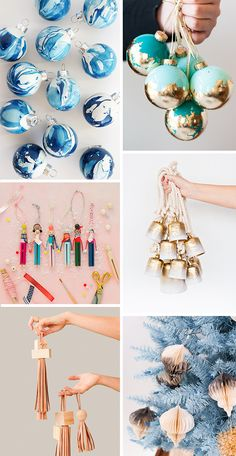 12 DIY Holiday Ornaments to Try Before Christmas! #holiday #christmas #ornaments #diy #tutorial