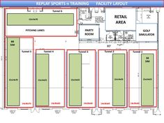 Afbeeldingsresultaten Voor Indoor Batting Cage Layouts Soccer Academy Sports Complex
