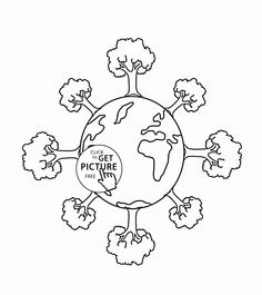 trees on earth earth day coloring page for kids coloring pages printables free