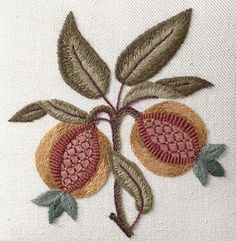 pomegranate crewel embroidery - Google Search