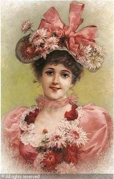 Vintage hat with an abundance of flowers