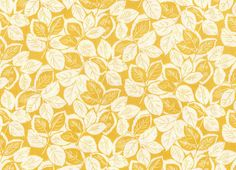 Retro 1930's Reproduction Feedsack Leaves Yellow