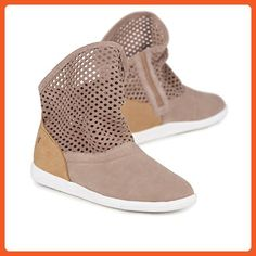 e6de5b40b7a5d EMU Australia Womens Shoes Numeralla Cow Leather in Mushroom / Natural Size  6 - Boots for