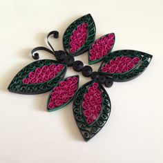 Quilling Butterfly With a Comb