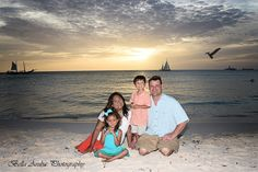 The Feurst Family loving the moments captured at Eagle Beach at sunset.
