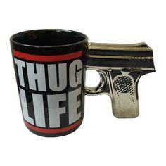 Coffee Mug Gun Handle