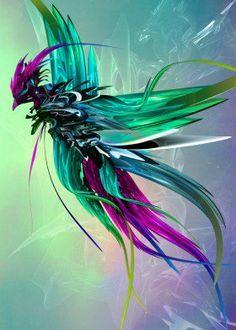 phoenix fantasy abstract surreal beautiful colors flight reborn wings bird wildlife sky cool magical