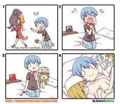 GreenTeaNeko why date girls when you got paletets Comics Story, Fun Comics, Anime Comics, Green Tea Neko, Humor Otaku, Days Anime, Ecchi Neko, Chibi, Manga Cute