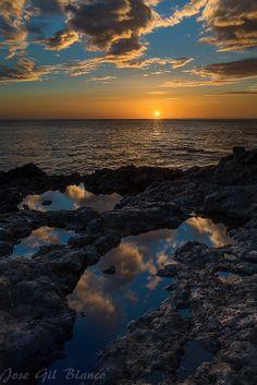 "~~Reflections in ""La Restinga"" | sunset, El Hierro, Canary Islands, Spain by Jose Ignacio Gil Blanco~~"