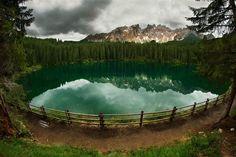 Озеро Карецца, Италия. Фотограф: Петр Косых.